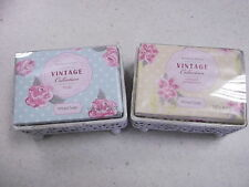 HEATHCOTE & IVORY - VINTAGE COLLECTION - MILLED SOAP IN SHABBY CHIC DISH