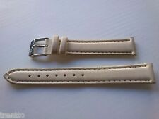 CORREA RELOJ 14,16 MM PIEL CREMA HEBILLA ACERO WATCH LEATHER NEW STRAP BAND