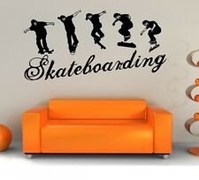 WANDSTICKER SKATEBOARDING - SKATER IN ACTION - WANDTATTOOS MIT COOLEM STYLE