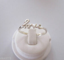 925 Sterling silver LOVE word ring