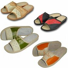 Ladies, Women`s, Natural Leather Slippers 36, 37, 38, 39, 40, 41