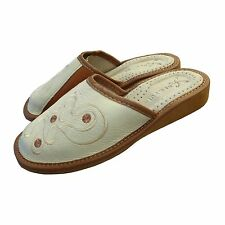 Ladies, Women`s Leather Slippers size: 36, 37, 38, 39, 40, 41, Creame