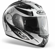 Casco hjc is16 bullvine bianco mc5 integrale moto con visierino parasole