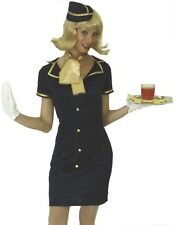 Stewardess Kostüm Uniform Kleid Gr. 34 36 38 40 42 44 46