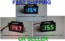 "VOLTMETER WATERPROOF DIGITAL 0.56"" LED RED BLUE GREEN DC 3V-30V Motorcycle Car"