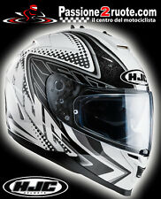 Casco Hjc Is-17 Tasman bianco Mc10 integrale moto con visierino parasole interno