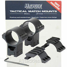 """Hawke Tactical Match Grade Rifle / Air Rifle Scope Mounts - 1""""or 30mm"""