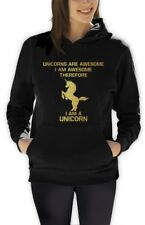 I'm a Unicorn Women Hoodie Always be Yourself WASTED YOUTH Hipster Geek Cute