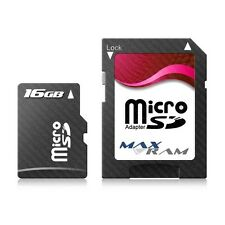 16GB Micro SD SDHC MaxRam Memory Card + SD Adapter FOR ETEN X500 & more