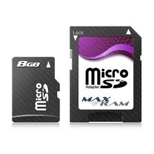 8GB Micro SD SDHC MaxRam Memory Card + SD Adapter FOR Samsung Z550 & more