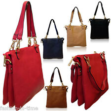 Ladies Designer Multi Pocket Shoulder Messenger Bag Satchel Handbag Tote Bag