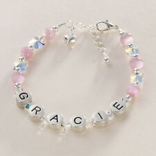 Butterfly Bracelet with Name for Girls, Personalised Jewellery for Children