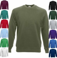 FRUIT OF THE LOOM Sweatshirt Raglan Rundhals langarm Freizeit-S M L XL XXL (2)