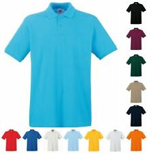 FRUIT OF THE LOOM HERREN POLO SHIRT PREMIUM Kurzarm - S M L XL XXL 3XL (2)