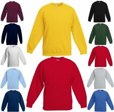 FRUIT OF THE LOOM KINDER SWEAT SHIRT Set-In Langarm-104 116 128 140 152 164(0)