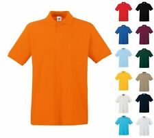 FRUIT OF THE LOOM HERREN POLO SHIRT PREMIUM Kurzarm - S M L XL XXL 3XL (0)