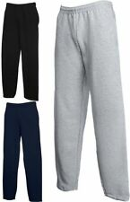 FRUIT OF THE LOOM JOG PANTS Sweatpant Jogginghose Hose Open Leg-S M L XL XXL (0)
