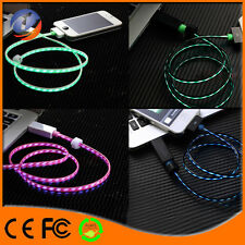 Visible Flowing LED USB Data Sync Charging Cable For iPhones/ Samsung Micro USB