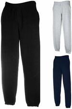 FRUIT OF THE LOOM New Elasticated Cuff Jogpants Sweat Jogginghose-S M L XL XXL-2