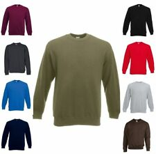 FRUIT OF THE LOOM SWEAT SHIRT New Set-In Langarm Freizeit-S M L XL XXL (2)
