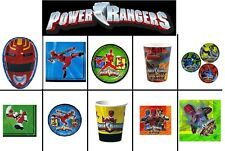 POWER RANGERS PARTY PLATES CUPS NAPKINS Supplies Child Boys Ninja Paper Kids NEW