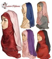 OMBRE TIE DIE 2 in 1 TWO COLOURED MAXI LARGE PRINT HIJAB SCARF SHAWL ABAYA
