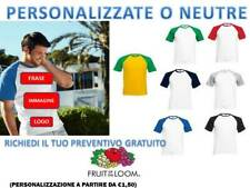 MAGLIETTA UOMO MANICA CORTA BICOLORE FRUIT OF THE LOOM T-SHIRT PERSONALIZZABILE