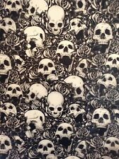 Hydrographic film Skulls and roses water transfer printing film  ROLLED ONLY!