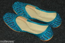 Firozi Beaded hand made punjabi jutti shoes bridal wear PJ9726
