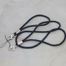 23mm 45mm Leather Wrist Neck Strap Lanyard 4 Mp3 Cell Phone Ipod ID card badge