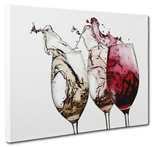 Wine Glass Splash Abstract Canvas Print Wall Art Picture a1 a2