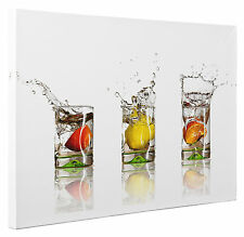 Fruit Drinks Splash Abstract Canvas Print Wall Art Picture Large or Small a1 a2