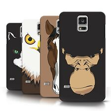STUFF4 Phone Case/Back Cover for Samsung Galaxy S5/SV /Animal Faces