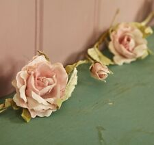 Pink Rose or Cream Garland Sass & Belle Shabby Vintage Chic Weddings Bedroom NEW