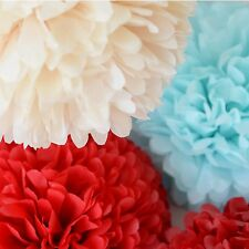Set of15 tissue paper pom poms - wedding party decorations - multi color