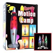 JOB LOT 6 X  GROOVY MOTION WAX LIQUID LAVA LAMP RETRO CALMING EFFECT