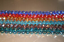 Faceted Rondelle Crystals AB Beads Various colours and sizes