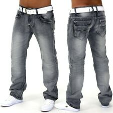 Herren Jeans Hose Ray Grey Used Fit Clubwear grau Denim