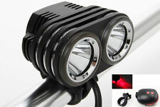 New 3600LM 2x Cree L2 LED Bike Bicycle Front Light Headlamp Headligt+ Battery UK