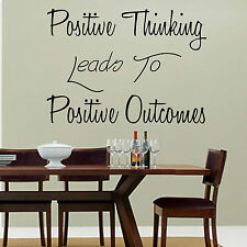 Positive Thinking Leads To Positive Outcomes Wall Art Sticker Lounge Kitchen