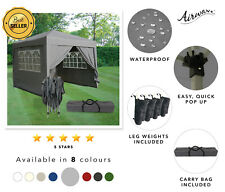 AirWave 3x3m desplegable Gazebo Carpa Jardín Impermeable 2 Barras 4