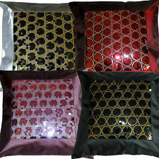"Sequin Cushion Cover Covers Quality Faux Satin Silk 16 x 16"" Polyester Sale"
