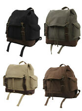 Rothco Vintage Military Canvas Expedition Rucksack Backpack