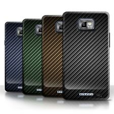 STUFF4 Phone Case/Cover for Samsung Galaxy S2/SII /Carbon Fibre Effect/Pattern