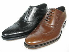 Loake Jones Pespunteado En Los Bordes Zapatos Cuero Oxford Budapest