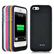 7 Farben 2200mAh Batterie Akku Case Cover Hülle Power Bank Pack für iPhone 5S 5