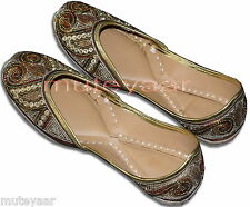 Dabka Work Hand Embroidered hand made punjabi jutti shoes bridal wear PJ9745