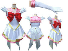 Sailor Moon Sailormoon Chibimoon Pink Cosplay Costume + Glove + Tiara HK