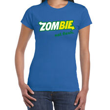 Womens Funny Sayings Slogans T Shirts-Zombie Eat Flesh-Subway Style tshirt
