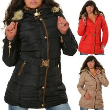 Damen Jacke Steppjacke Daunen-Look Outdoor Kapuze Mantel Winterjacke Winter N050